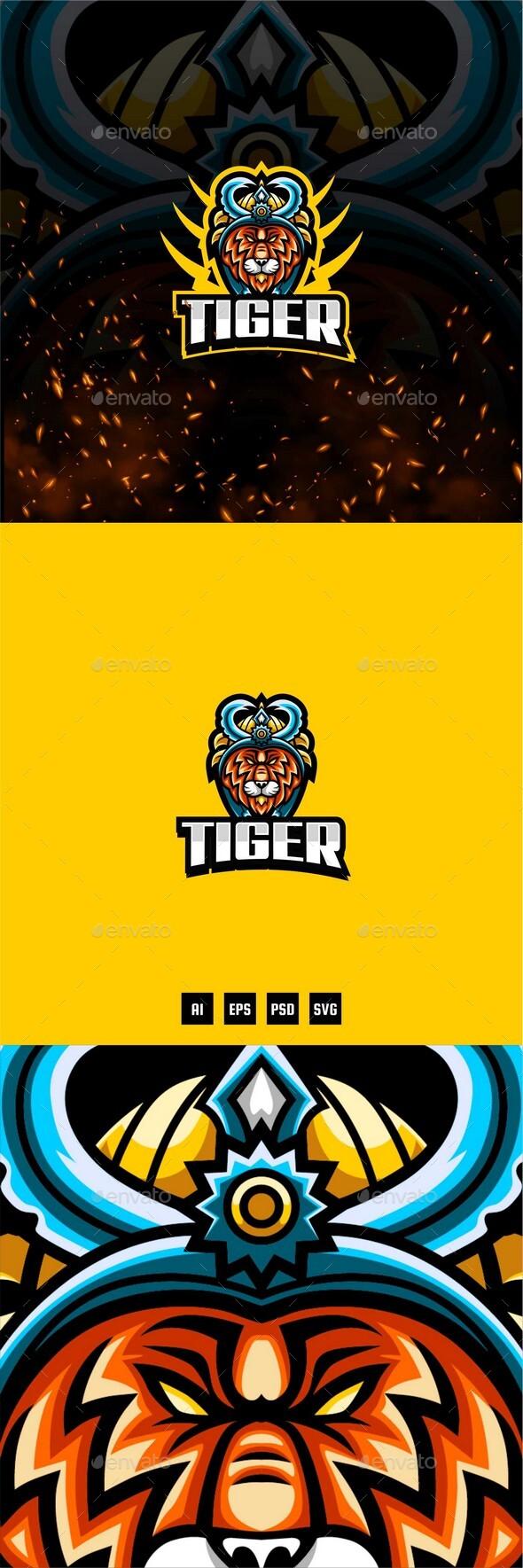 Tiger Team E-Sport and Sport Logo Template