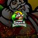 Santa Gaming E-Sport and Sport Logo Template - GraphicRiver Item for Sale