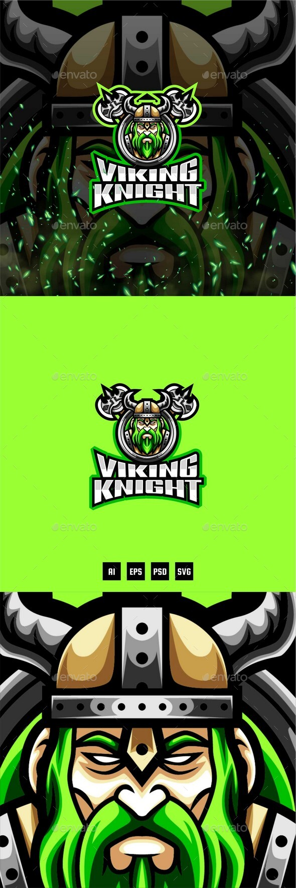 Viking Knight E-Sport and Sport Logo Template