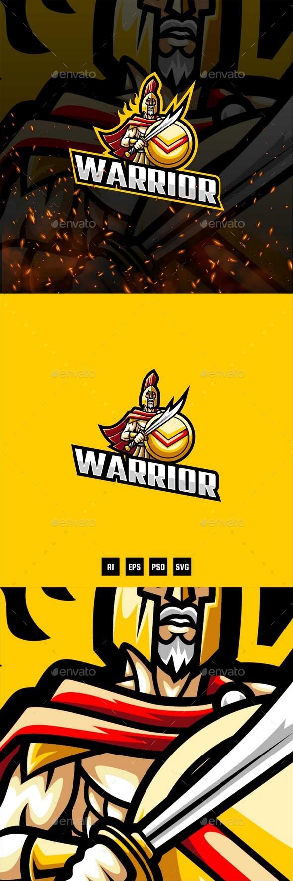 Warrior E-Sport and Sport Logo Template