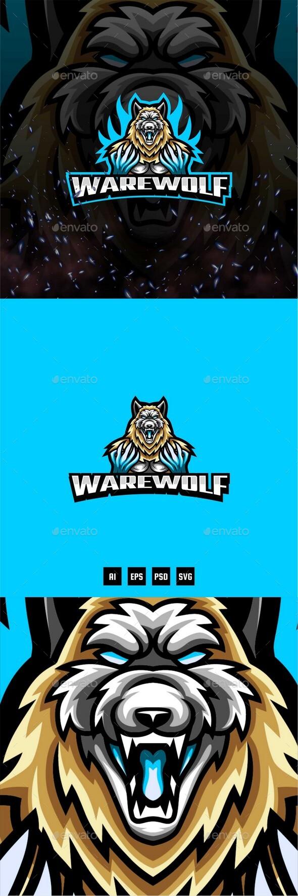 Werewolf E-Sport and Sport Logo Template