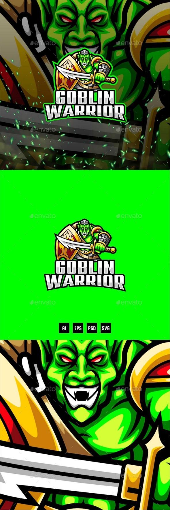 Goblin Warrior E-Sport and Sport Logo Template