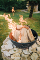 Fire pit in garden - PhotoDune Item for Sale