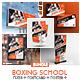 Boxing School Promotional Bundle Print Templates - GraphicRiver Item for Sale
