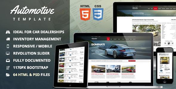Motoryzacyjny salon samochodowy i szablon HTML firmy
