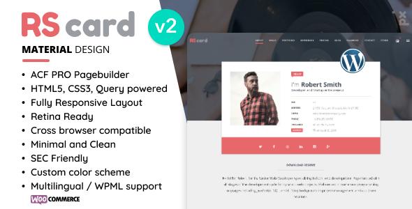 Resume, CV & vCard Theme
