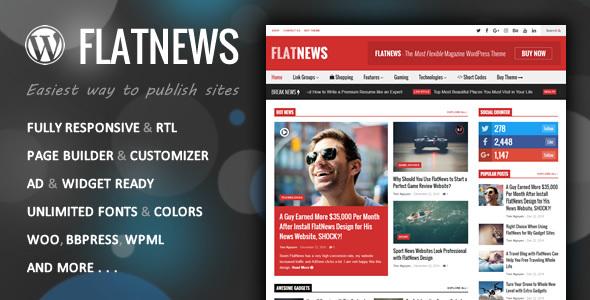 FlatNews - responsywny magazyn WordPress