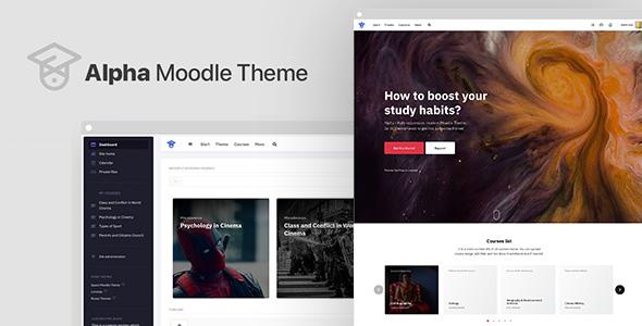 Alpha | Responsive Premium Theme for Moodle