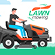Man Mowing the Lawn - GraphicRiver Item for Sale
