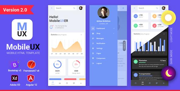 Mobileux | Uniwersalny szablon aplikacji mobilnej HTML