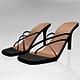 Square-Toe High-Heel Slide Sandals 01 - 3DOcean Item for Sale
