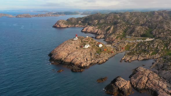 Coastal Lighthouse. Lindesnes Lighthouse Is a Coastal Lighthouse at the Southernmost Tip of Norway