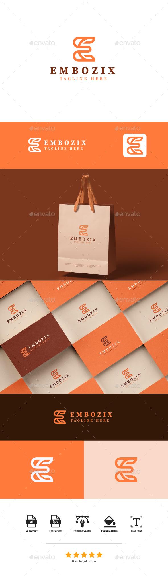 Logo Letter E - Embozix