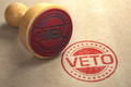 Veto stamp on craft paper. - PhotoDune Item for Sale