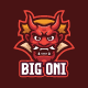 The Oni Japanese Demon Mascot Character Logo Template - GraphicRiver Item for Sale