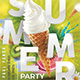 Ice Cream Summer Party Flyer - GraphicRiver Item for Sale
