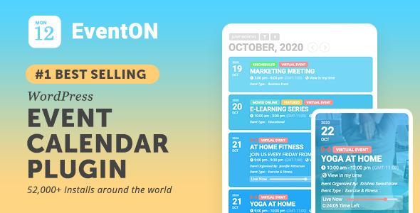 EventOn - Wtyczka kalendarza wydarzeń WordPress