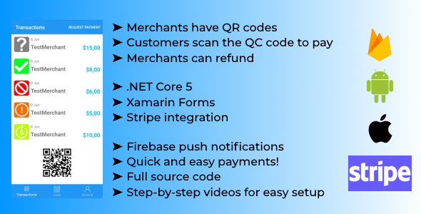 Scan Payment App with Xamarin Forms and .NET Core API