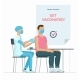 A Doctor Makes Vaccine Injection to a Patient - GraphicRiver Item for Sale