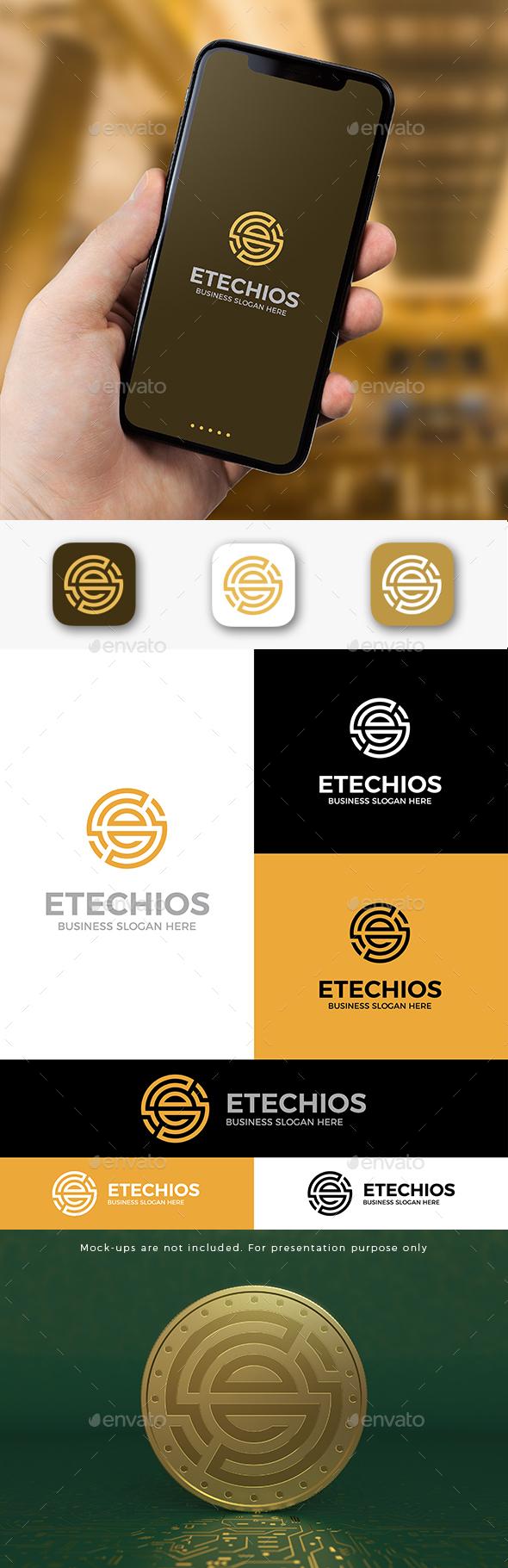 E Coin Crypto Logo E Letter