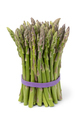 Bunch of fresh raw green asparagus tips on white background - PhotoDune Item for Sale