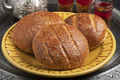 Pair of traditional Moroccan krachel rolls on a plate - PhotoDune Item for Sale