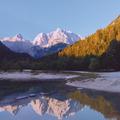 Stylish travel wallpaper. Slovenia. Mountains and  lake - PhotoDune Item for Sale