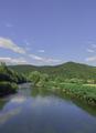 Stylish travel wallpaper.  Slovenia. Green and river. Nature aesthetics - PhotoDune Item for Sale