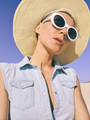 Country style girl selfie. Vacation Summer outfit - PhotoDune Item for Sale