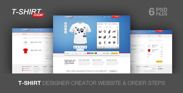 T Shirt Designer Website Templates From Themeforest