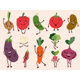Cheerful Vegetable Characters - GraphicRiver Item for Sale