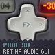 Pure90 - Retina Digital Audio Workstation GUI Kit - GraphicRiver Item for Sale