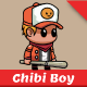 Chibi Boy with Baseball Bat Game Asset - GraphicRiver Item for Sale
