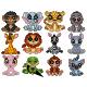 Set of Cartoon Twelve Little Animal Bundle - GraphicRiver Item for Sale