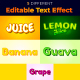 Fruits Text Style Effect - GraphicRiver Item for Sale