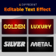 Golden 3D Text Style Effect - GraphicRiver Item for Sale