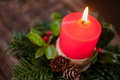 Christmas advent candle with decoration - PhotoDune Item for Sale