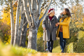 Woman with grandmother walking in park in autumn - PhotoDune Item for Sale