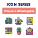 75 Office and Office Supplies Icons   Smooth Series - GraphicRiver Item for Sale