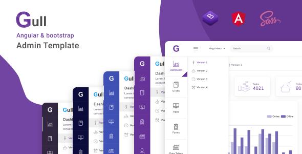 Gull - Szablon pulpitu administracyjnego Angular 8+ Bootstrap 4