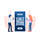People Use Smartphone Scanning QR Code to Payment - GraphicRiver Item for Sale