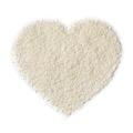 Shredded coconut in heart shape isolated on white background - PhotoDune Item for Sale