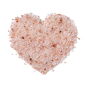 Himalayan salt in heart shape isolated on white background - PhotoDune Item for Sale