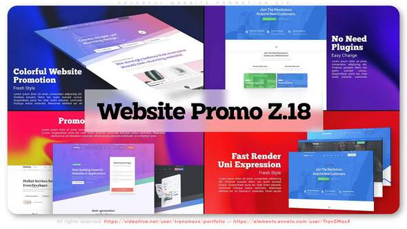 Colorful Website Promotion Z18