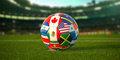 Soccer Football ball with flags of North America countries - PhotoDune Item for Sale