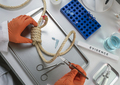 Police scientist extracts DNA sample from hanging victim's body - PhotoDune Item for Sale