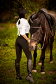 Young woman walking with a horse - PhotoDune Item for Sale