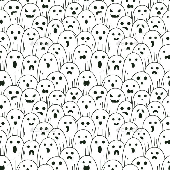 Halloween Ghost Pattern