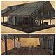 Low Poly Old Cottage 3D Model - 3DOcean Item for Sale