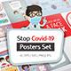 STOP CORONAVIRUS Posters Set - GraphicRiver Item for Sale